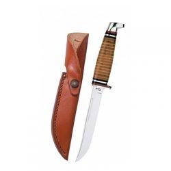 316-5 SS Leather Hunter w/Sheath