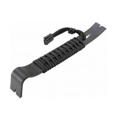 """7.5"""" Black Powder Coated SK5 550 Paracord Wrapped Pry Bar"""
